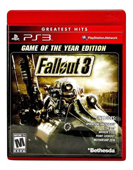 Fallout 3 (ps3) Mídia Física Novo Lacrado