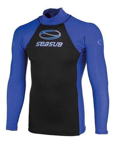 Camiseta Jersey Neoprene Seasub - Proteção Uv, Manga Longa