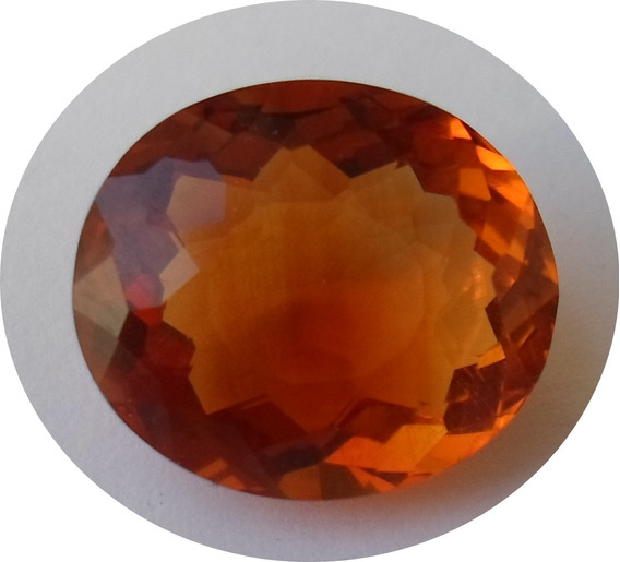 Citrine Brasil Golden Orange 9.42 Ct 15.28 X 13.20 X 8.00 Mm