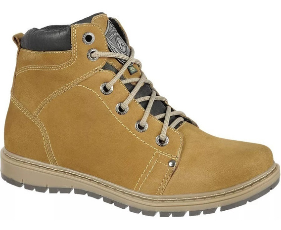 Bota Masculina Coturno Bmbrasil Working Adventure Couro