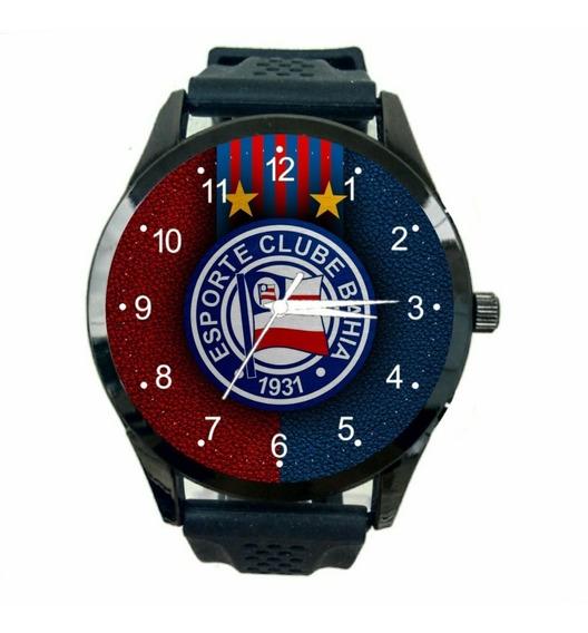 Relógio Bahia Masculino Barato Futebol Esporte Time Fc T179