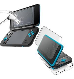 Nintendo 2ds Xl Funda Protectora + Micas Templadas + Envío