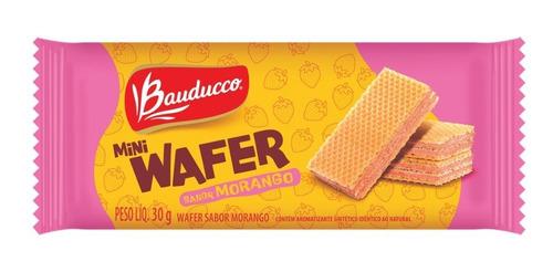 Bolacha Mini Wafer De Morango Bauducco 30g