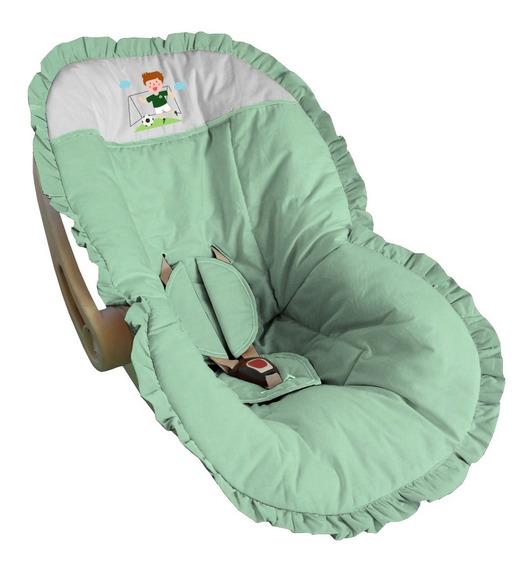 Capa Bebê Conforto Mais Barato Acolchoado Verde Palmeiras