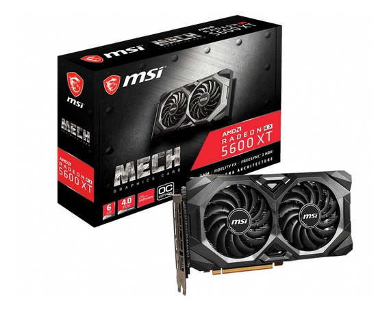 Placa De Video Msi Rx 5600 Xt 6gb Mech Oc Radeon