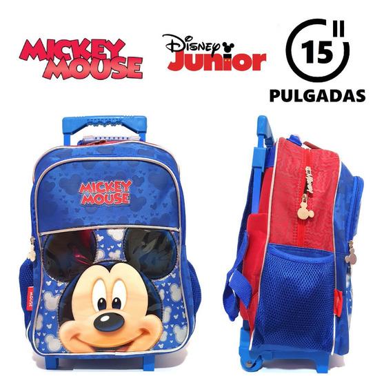 Mochila Mickey Mouse 15 Pulgadas Carro 100% Original !!!