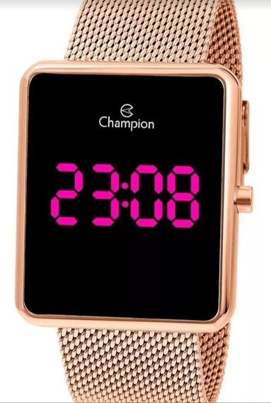 Relógio Digital Rose Gold Feminino Original Com Garantia