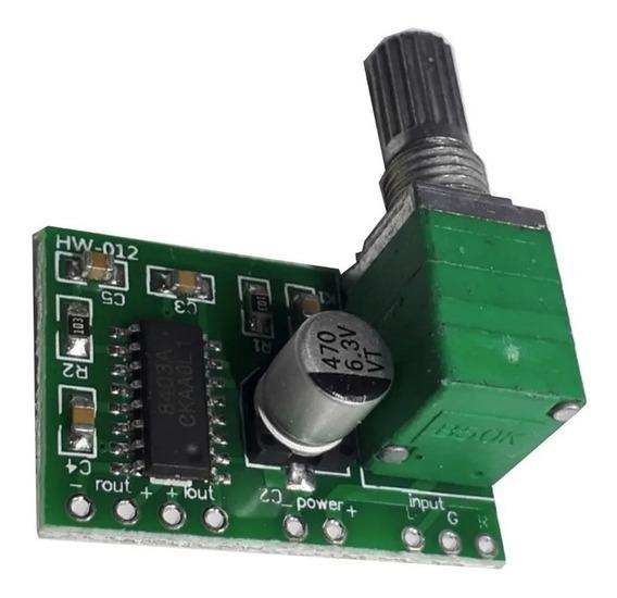 Amplificador 8403 2x3w 5v Com Volume (2 Peças)