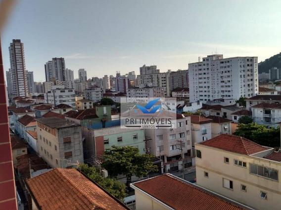 Apartamento À Venda, 91 M² Por R$ 375.000,00 - Campo Grande - Santos/sp - Ap0860