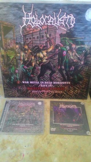 Holocausto Ao Vivo Kit Com Vinil / Cd-dvd E Dvd Promoção!!!
