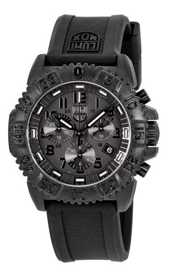 Relógio Masculino Luminox 3081bo Pulseira De Silicone