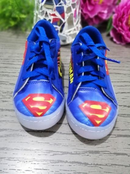 Tenis Luces Led Golpe Superman