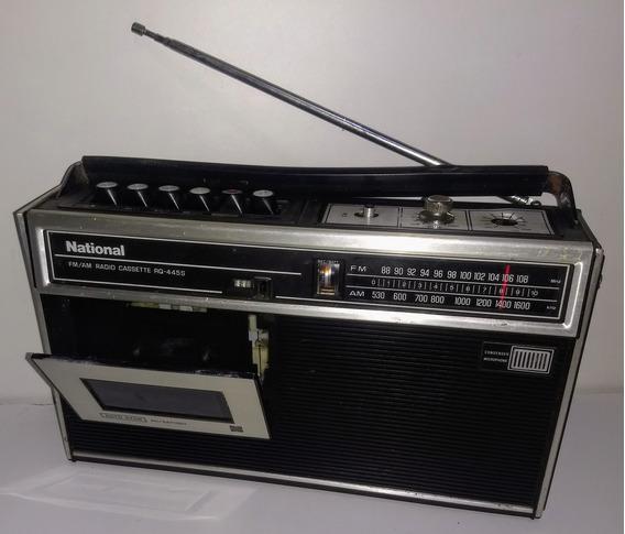 Rádio Antigo National Fm Am Fita Cassete Rq-445s Funcionando