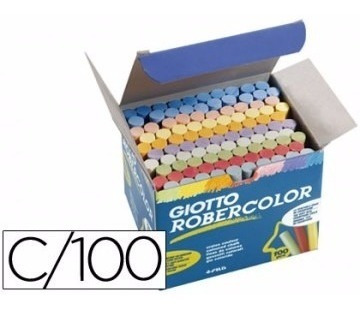 200 X Giz Escolar Giotto Robercolor Branco + Color Antialérg