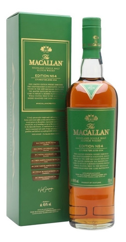 Imagen 1 de 8 de Whisky The Macallan Edition Nro4 700ml En Estuche