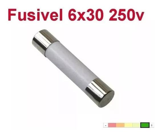 5 Pçs Fusível Cerâmico Microondas (6x30) 20a 250v