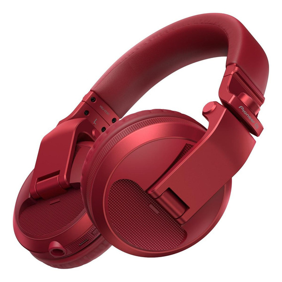 Fone de ouvido sem fio Pioneer HDJ-X5BT vermelho