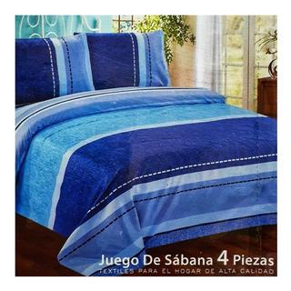 Juego De Sabanas De 2 Plazas %100 Algodón Excelente Calidad