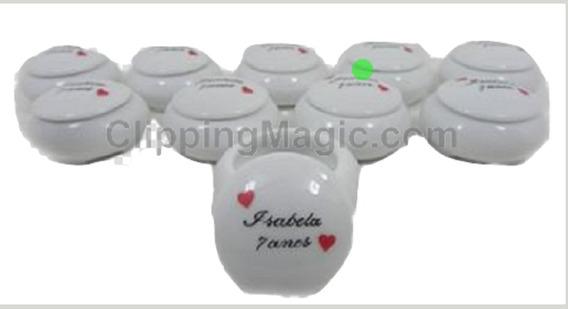Lembrancinhas Porta Joia Porcelana Personalizado Mão 50 Uni.