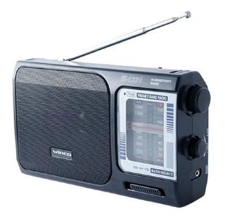 Radio Portatil Am Fm Electrica Y A Pilas Winco W-1231 Manija