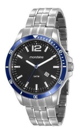 Relógio Masculino Prata Mondaine 78757g0mvna1, Original - Vendido Com Nfe - Garantia De 1 Ano - Tamanho Médio - 5atm