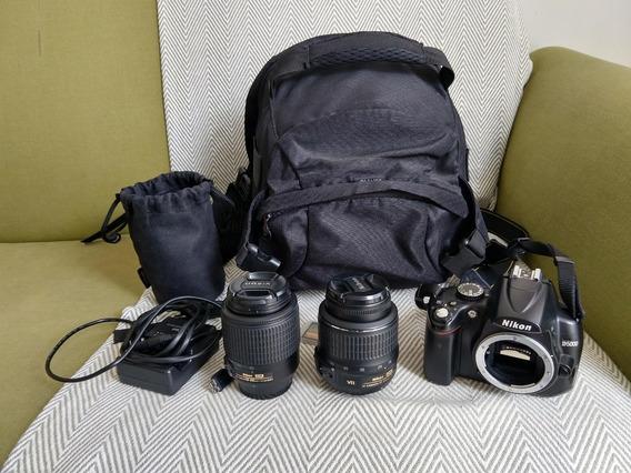 Câmera Nikon D5000 + Lentes 18-55mm E 55-200mm + 64gb