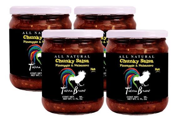 Salsa Casera Chunky Tierra Brava Tarro De 473ml. 4 Piezas