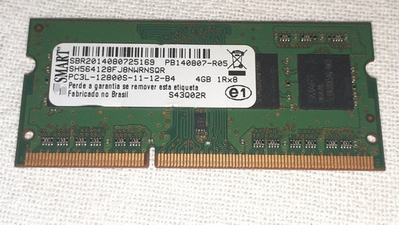 Memória 4gb Ddr3 Pc3l-1200s-11-12-b4 Notebook 1rx8 Smart