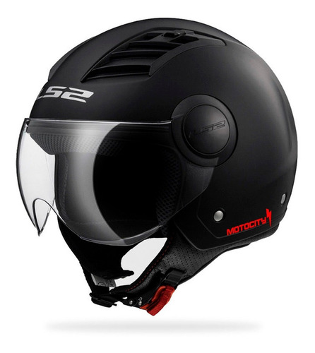 Casco Abierto Ls2 Airflow Solid Of562 Negro/mate 2019