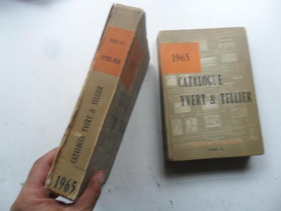 2 Libro Catalogo Yvert & Tellier 1965 Estampilla Filatelia