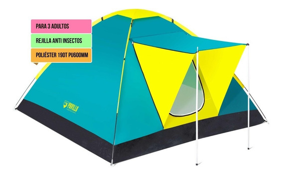 Carpa Iglu 3 Personas 68012 Bestway Camping Impermeable 190t