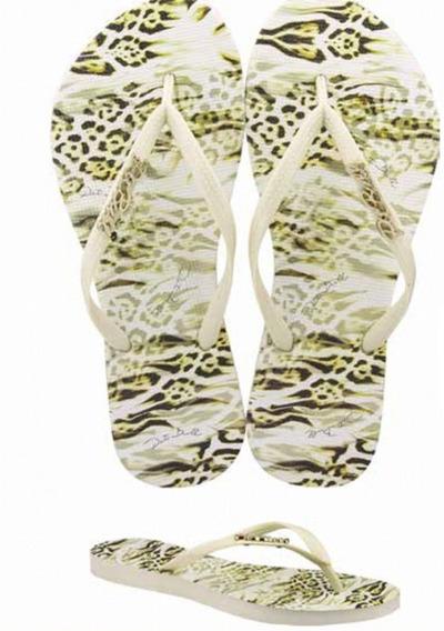 Chinelo Feminino Pit Bull Jeans Animal Print Cod 003f