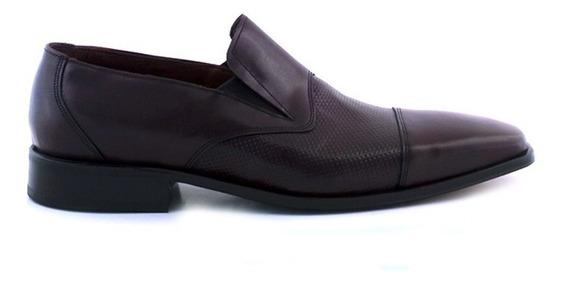 Zapato Hombre Vestir Suela Cuero Negro Briganti - Hccz01041