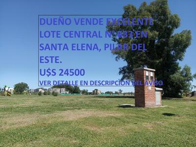 Dueño Vende Lote Central 633 En Pilar Del Este, Santa Elena