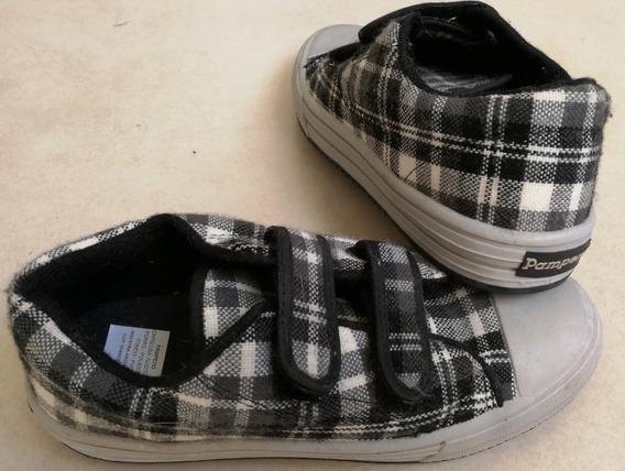 Zapatillas Pampero Escocesas Nuevas Con Abrojo Talle 35