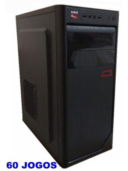 Cpu Gamer Barato + 60 Jogos 3.8 Ghz 500gb 3.8 Ghz Pes Lol Gta V