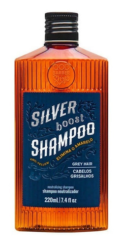 Imagem 1 de 1 de Shampoo Silver Boost 220ml | Para Cabelos Grisalhos | Qbs