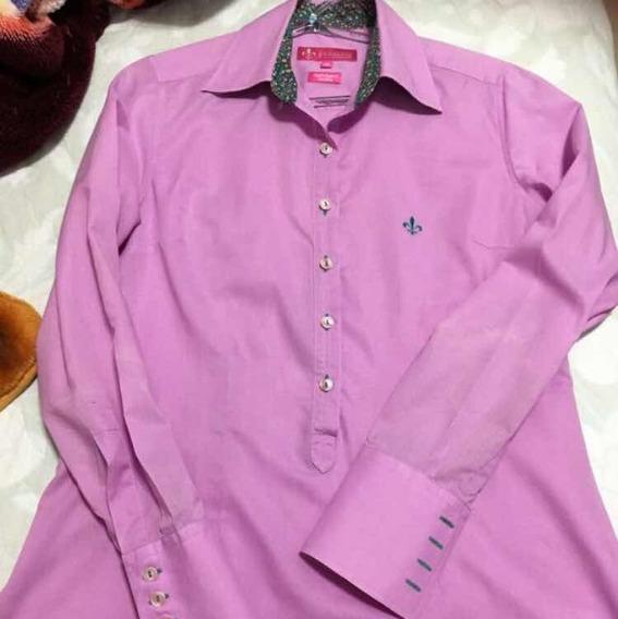 Camisa Dudalina 38 Com Pequenas Discretas Manchinhas Brmavas