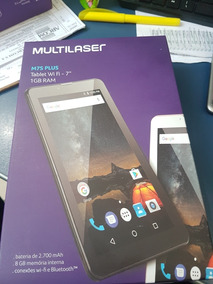 Tablet Multilaser M7s Plus Nb273 Preto Tela 7 8gb Wifi Andr