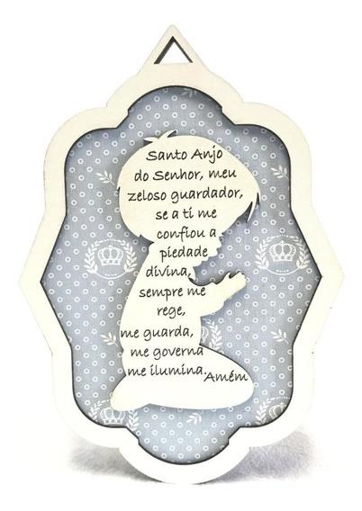 Enfeite Porta Maternidade Decoração Oração Anjo Da Guarda