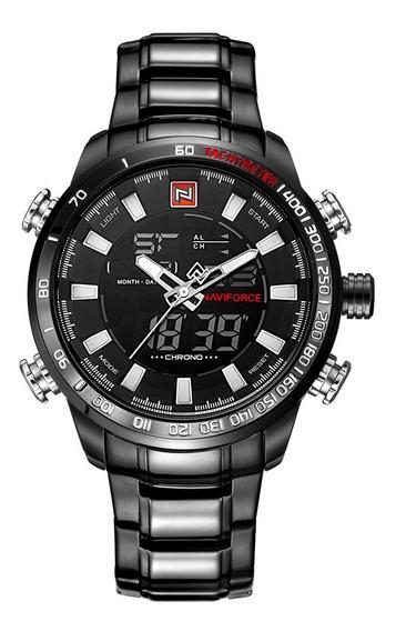 Relógio Masculino Naviforce Luxo Esportivo Militar Original