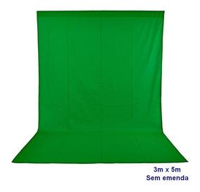 Tecido Chromakey Verde 3x5m Em Algodão Muslim Sem Emendas