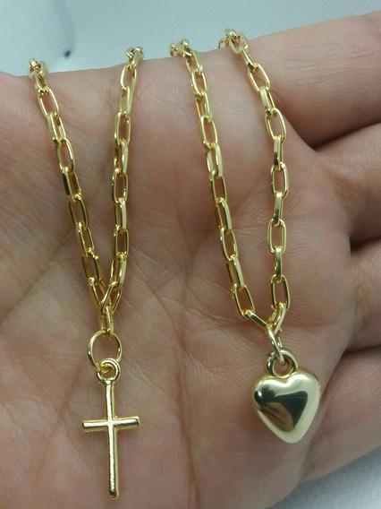 Kit Pulseira Namorados Banhadas A Ouro Pingente Mini Luxo