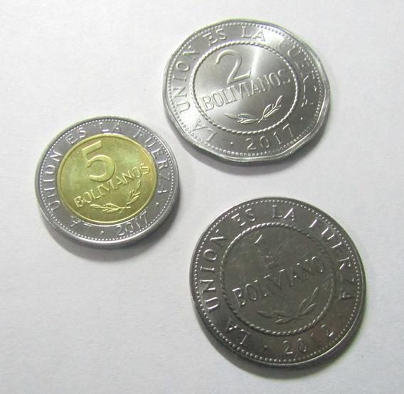 Bolivia Set De 6 Monedas Centavos Bolivianos 2012 - 2017