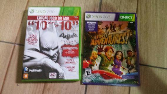 Jogo Xbox 360 Batman Edição Especial E Kinect Adventures