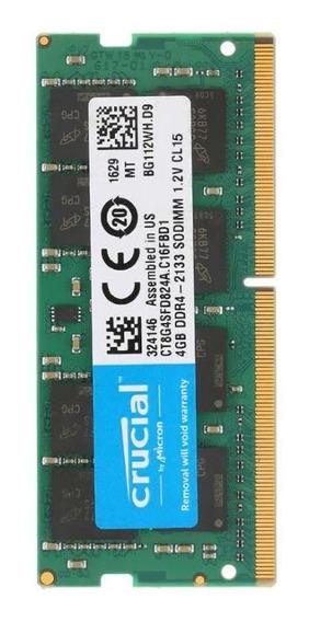 Memoria Ram Crucial Sodimm Ddr4 4gb 2666mhz Notebook
