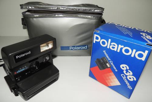 Câmera Instantânea Original Polaroid 636 Closeup Funcionando