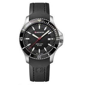 Reloj Caballero Wenger Seaforce Correa Goma Negra