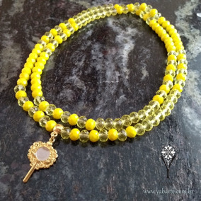 Fio De Contas Oxum - Guia Cristal Amarelo