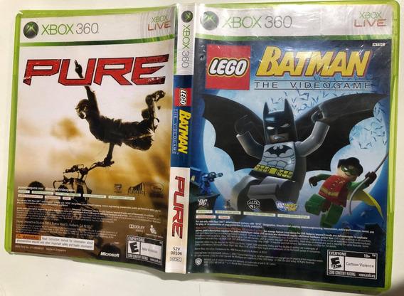 2 Jogos Lego Batman 1 E Pure (motocross) Xbox 360 Original